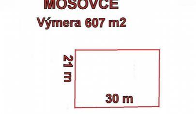 MOŠOVCE stavebný pozemok 607m2 okr. T.Teplice