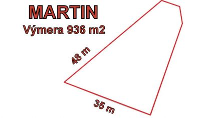 MARTIN POZEMOK pre komerčné využitie 936m2, Jahodníky