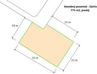 Stavebný pozemok v Zázrivej na predaj, výmera 775 m2