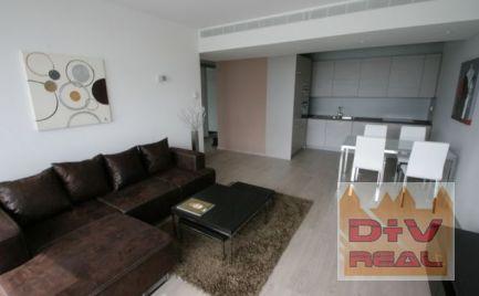 D+V real ponúka na prenájom: 2 izbový byt, Pribinova ulica, Eurovea, Bratislava I, Staré Mesto, zariadený, parkovanie, loggia
