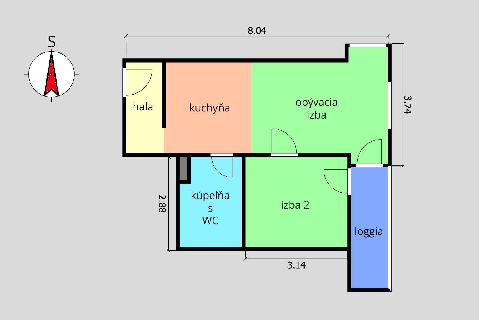 ponukabyvania.sk_Muchovo námestie_2-izbový-byt_MICHÁLKOVÁ