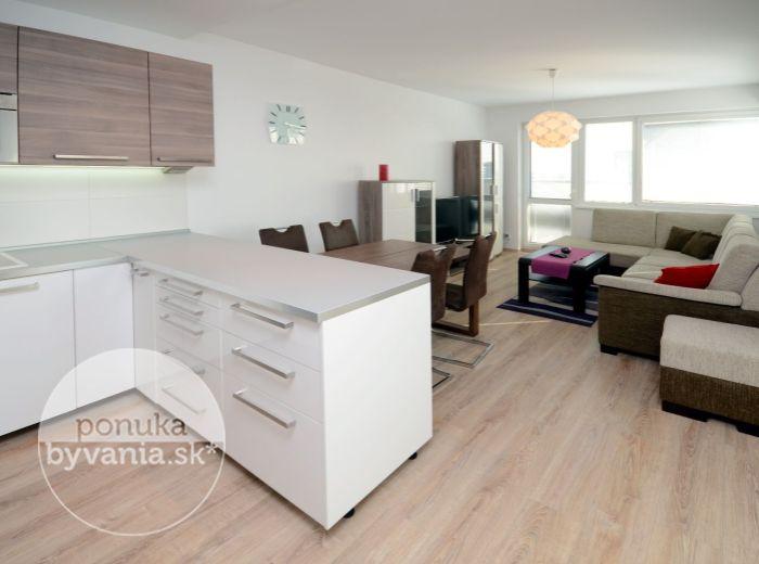 PRENAJATÉ - JÉGEHO, 2-i byt, 60 m2 – novostavba, tehla, loggia, PANORAMATICKÝ VÝHĽAD na mesto, ZARIADENÝ, parkovacie státie, širšie centrum BA