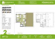 2-izbový byt 60m2 s terasou 78m2 - SILVANIUM II.