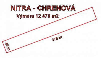 NITRA - Chrenová pozemok s rozlohou12479m2