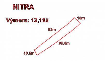 NITRA  stavebný pozemok rozloha 12,19á, časť Mlynárce