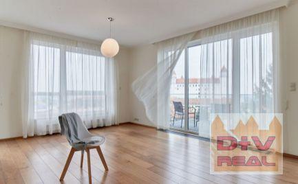 Prenájom: 2 izbový byt, Mudroňova ulica, Bratislava I, Staré Mesto, Diplomat park, nádherný výhľad, loggia, klimatizácia, garážové státie