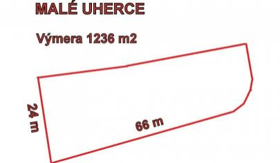 MALÉ UHERCE  stav.pozemok 1236 m2