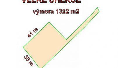 VEĽKÉ UHERCE - pozemok 1322 m2, na stavbu chaty