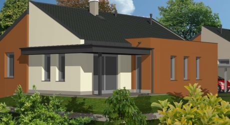 4 -  izbový rodinný dom 93m2 + 20m2 terasa, pozemok 420 m2,  Rajka