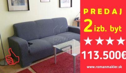 PREDANÉ!    2 izb. byt, Zálužická ul., Ružinov, Bratislava II