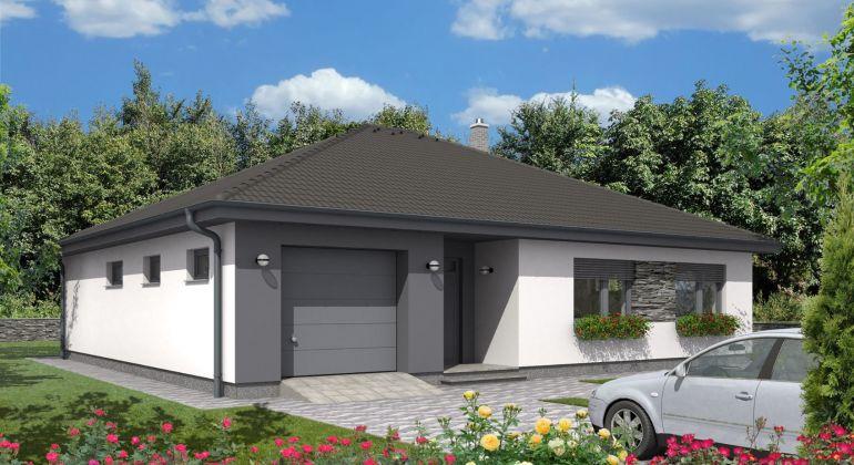 Novostavba RD2 bungalov, BECKOV, garáž, pozemok 605 m2