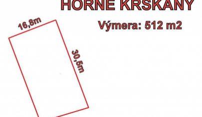 Nitra- Horné Krškany, stavebný pozemok 512 m2