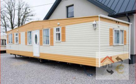 SUPER CENA!!! Mobilný dom ELEKTRIFIKOVANÝ vhodný na celoročné bývanie, kompletne zariadený 45 m2