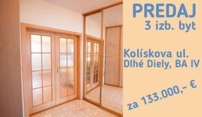 PREDANÉ!   3 izb. byt, Kolískova ul., Dlhé Diely, Bratislava IV
