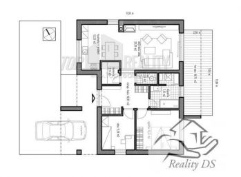 Predaj 3 izb. nízkoenergetický bungalov na kľúč, pozemok 4,09á, Dolný Bar