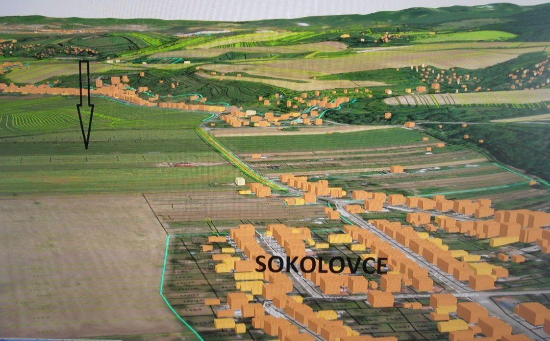 Pozemok pre RD-Predaj-Sokolovce-18405.00 €