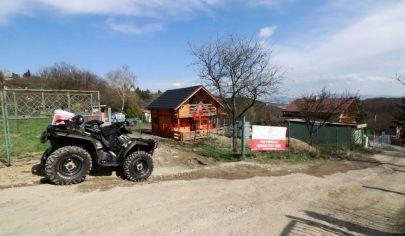 Záhrada s novou drevenicou, 566m2,predaj,Košice-Sever,neďaleko Suchodolinskej ulice