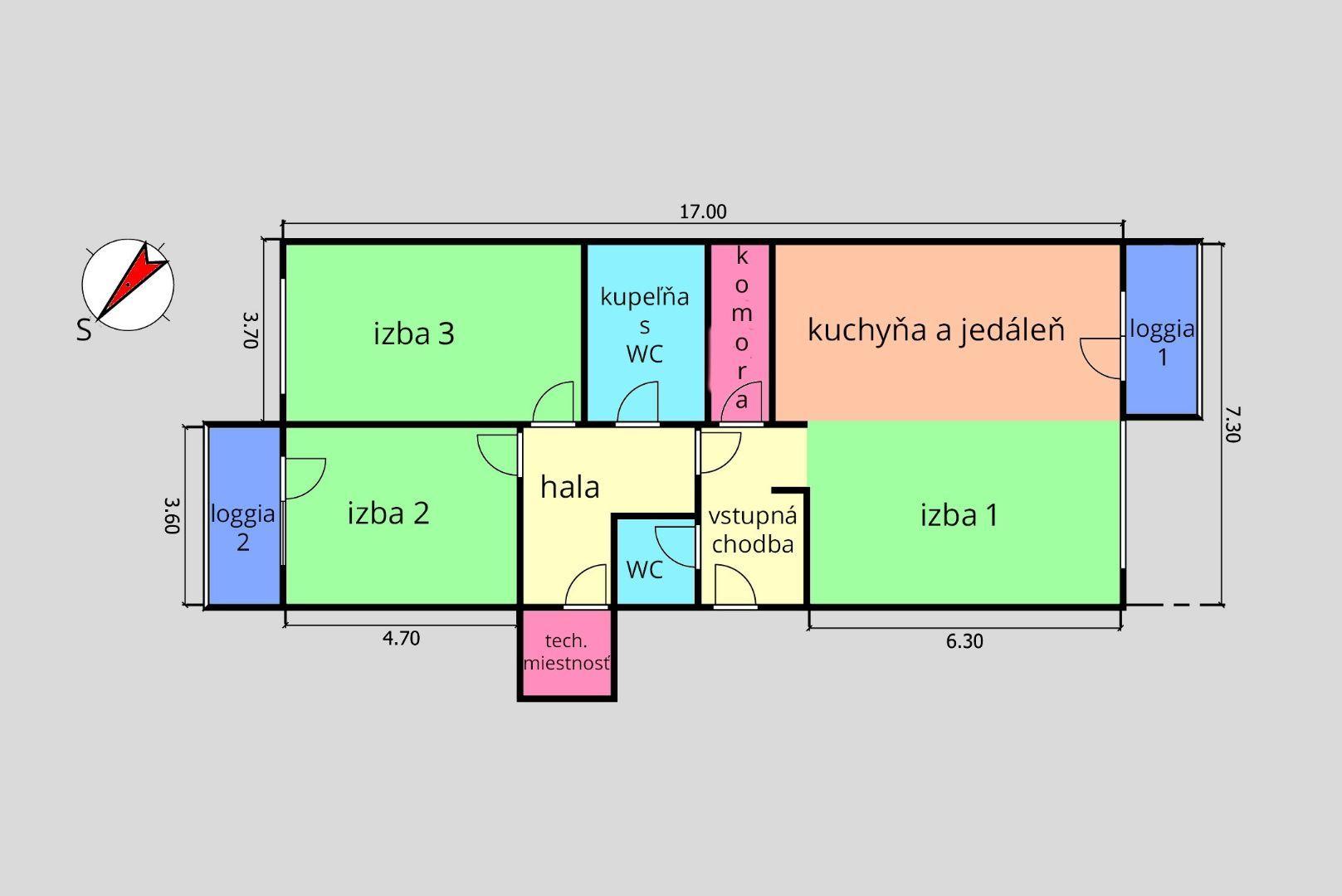 ponukabyvania.sk_Na Grunte_3-izbový-byt_HRNČIAR