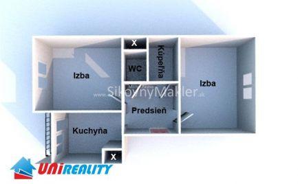 BÁNOVCE NAD BEBRAVOU- 2 izbový byt / DUBNIČKA / čiastočná rekonštrukcia / IBA U NÁS !!!