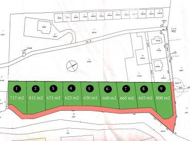 Predaj Slnečných pozemkov na rekreáciu v lukratívnej časti obce Súľov, 623-800 m2, Cena: 35 €/m2