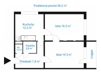EXLUZíVNE na predaj veľký 2 i byt na Furči