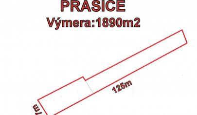 PRAŠICE - stavebný pozemok 1890m2, okr. Topoľčany