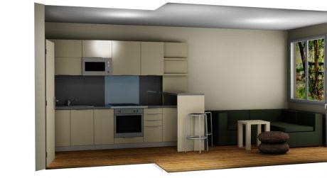 3 - izbový menší byt 50 m2 so záhradou 36 m2,  parkovacie miesto - Rajka