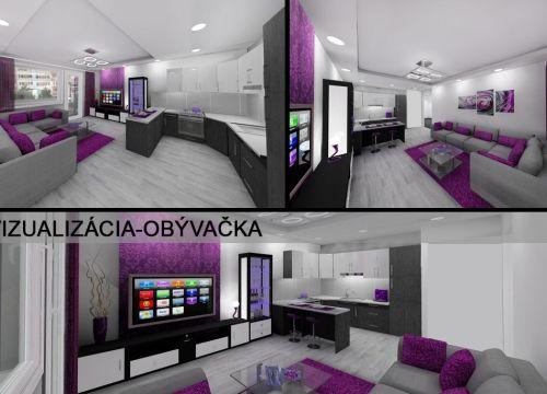 Najlacnejsibyt.sk: BA II - Líščie Nivy., 4i, 82,42 m2, kompletná luxusná rekonštrukcia bude dokončená máj 2018 s výhľadom na Bratislavský hrad a Kamzík
