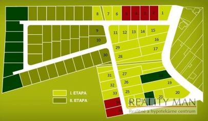 REALITY MAN - SPA rezort - 2. etapa - stavebný pozemok 792 m2 - Kúpele Piešťany, Banka
