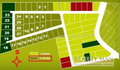 REALITY MAN - SPA rezort - 2. etapa - stavebný pozemok 607 m2 - Kúpele Piešťany, Banka