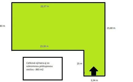 Stavebný pozemok s lukratívnymi mierami 24x 29m, + všetky siete