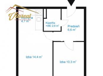EXLUZÍVNE  - na predaj 1,5 izbový byt v centre  Košíc s bezproblémovým parkovaním