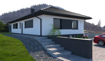 Sklabiňa Novostavba 4 izbového rodinného domu hrubá stavba okr. Martin