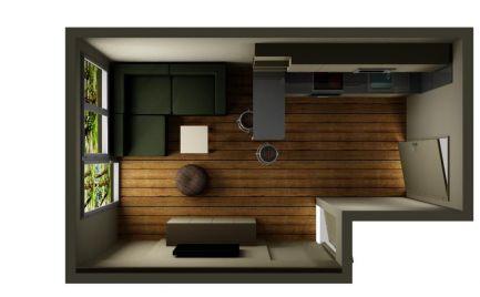 Na predaj útulný 1-izbový byt v Maďarskej Rajke s terasou a parkovacím státím.