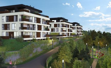 Predaj pekných 4i bytov 101 m2 s terasou a predzáhradkou 66 m2, v novostavbe na Kolibe, v cene parkovacie státie