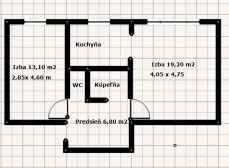 2 izb. byt, Bôrik, Bartókova ul.