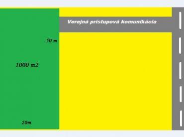 Na predaj komerčný stavebný pozemok o výmere 1000 m2 - širšie centrum Nové Mesto n/V