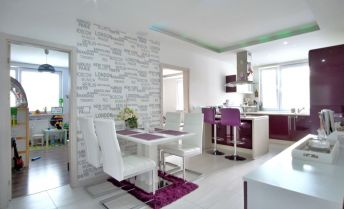 3 izbový byt, Bratislava – Budatínska ul., krásna moderná nadčasová rekonštrukcia