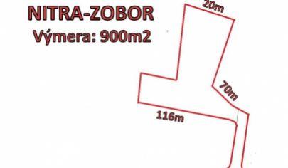 Nitra Zobor pozemok 900m2 na výstavbu rodinného domu