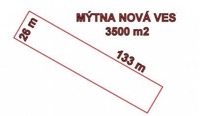 MÝTNA NOVÁ VES, pozemok výmera 3500 m2, okr. Topoľčany