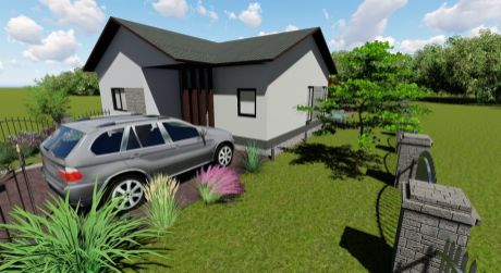 4 - izbový rodinný dom 95 m2 obytná plocha, 586 m2 pozemok - Rajka