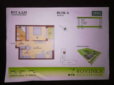 Predám 2-izbový byt v Rovinke.