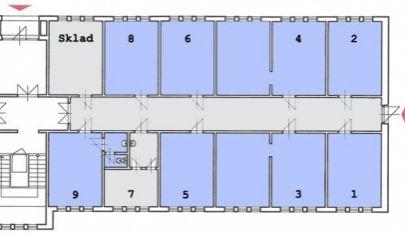 Martin kancelárske priestory na prenájom 16 m2.