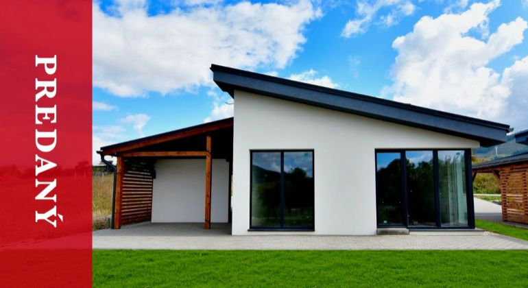 PREDANÝ: Predaj 3 moderných bungalovov v obci Turie len 7 km od Žiliny - exkluzívne v JR reality