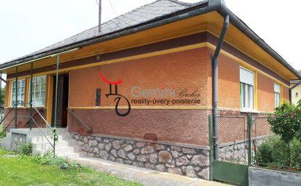GEMINIBROKER Vám ponúka rodinný dom v dobrom stave v obci Pálháza