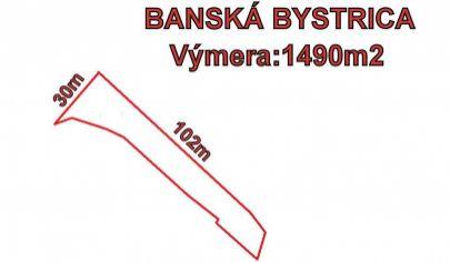 BANSKÁ BYSTRICA záhrada 1490m2. Graniar