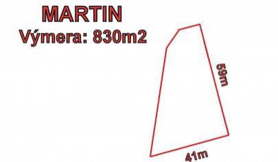 MARTIN rovinatý pozemok 830m2, Tomčany