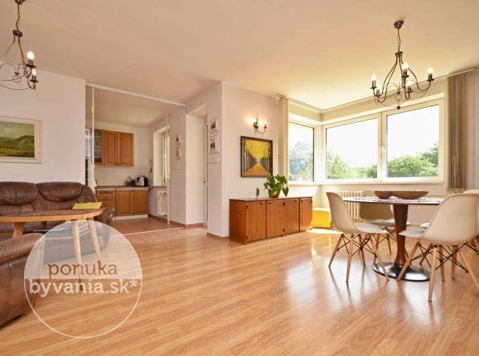 PREDANÉ - MARTINENGOVA, 4-i byt, 112 m2 – tehlový byt, TERASA, výťah, pivnica, krásny výhľad na Mlynskú dolinu