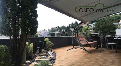 Exkluzívny 5-izbový mezonet s výmerou 200 m2 a terasou 70 m2, 2x garáž