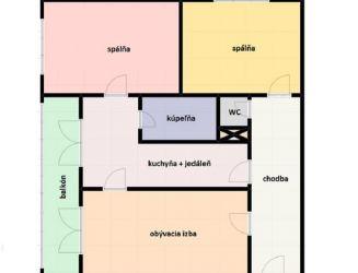 Na predaj 3 izbový byt v centre Martina, 81 m2,